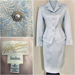 Vtg Jacket & Skirt Suit Set